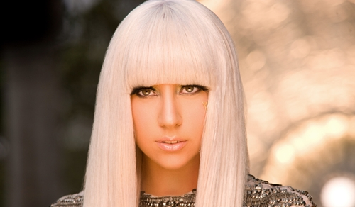 Lady GaGa's Long Straight Bob Haircut