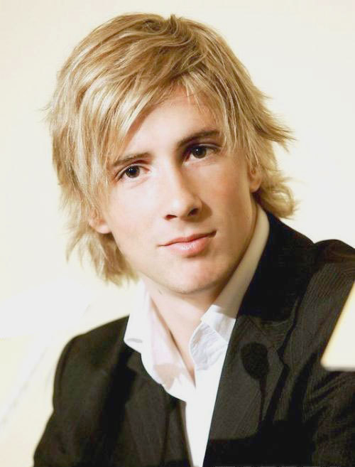 Fernando Torres Medium Messy Hairstyle