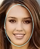 You have an oval face shape!