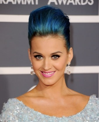 katy perry blue hair color