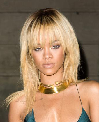 Rihanna's Long Straight Hairstyle