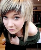 Lovely Medium Blonde EMO Haircut
