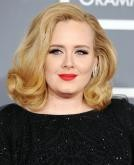 Adele's Shoulder-Length Retro Curls