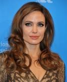 Angelina Jolie's Glossy Loose Curls