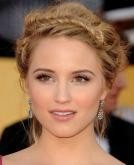 Dianna Agron's Messy Braided Updo
