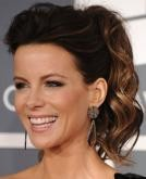 Kate Beckinsale's Messy High Wavy Ponytail