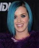 Katy Perry's Blue Sleek Bob Haircut
