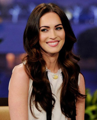 Megan Fox's Sexy Long Brunette Waves