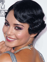 Vannessa Hudgens short hair with curls