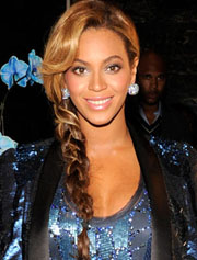 Beyonce side braide hairstyle