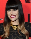 Jessie J's Long Straight Haircut With Bangs