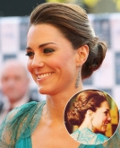 Kate Middleton's Braided Updo Hairstyle