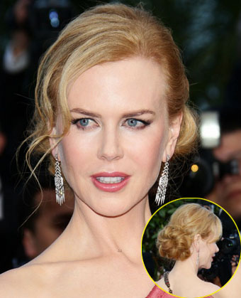 Nicole Kidman updo hairstyle at 2012 Cannes Film Festival