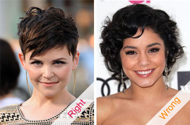short haircuts for round face shapes