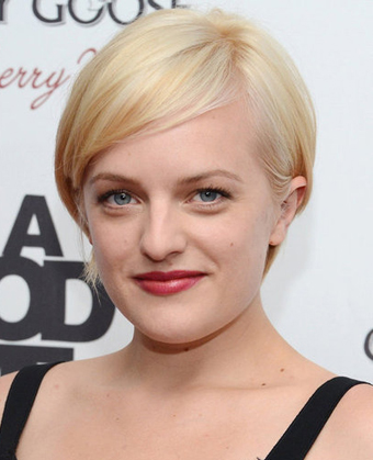 Elisabeth Moss's New Platinum Pixie Haircut