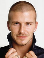 David Beckham's hairstyle, men haircut, short crop