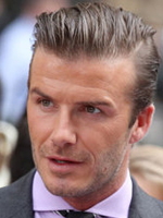 David Beckham's hairstyle, men haircut, sleeked back hairstyle