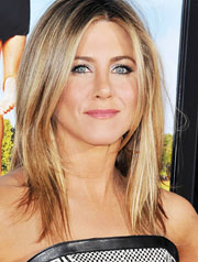 Jennifer Aniston lob hairstyle best for heart shaped faces