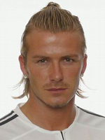 David Beckham's hairstyle, men haircut, pony tail