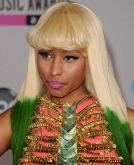 Nicki Minaj's Green Tipped Wig