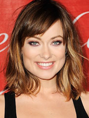 Olivia Wilde  lob hairstyle best for square face shape