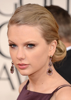 the Golden Globes 2013 best hairstyle  Taylor Swift