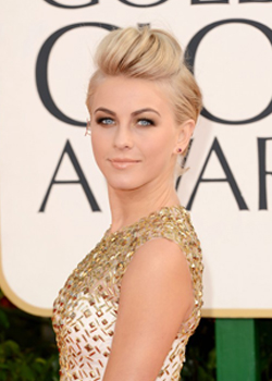 best hairstyle of the Golden Globes 2013  Julianne Hough