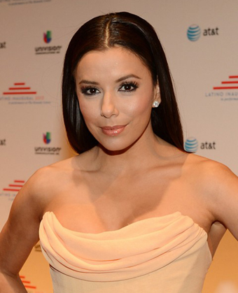 Eva Longoria's Long Straight Hairstyle