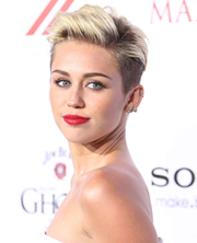 Miley's modern pixie haircut