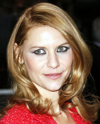 Claire Danes strawberry red hue