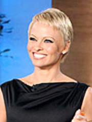 Pamela Anderson's chic pixie haircut