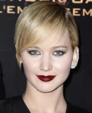 Jennifer Lawrence cropped hairstyle