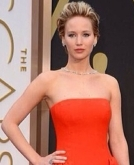 Jennifer's swept back hairstyle