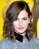 Camilla Belle's beachy half-waves