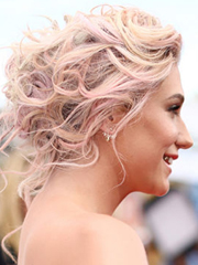 Kesha's twisted updo