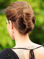 Angelina Jolie's twisted bun