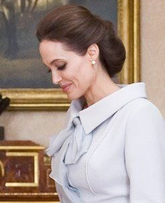 Angelina Jolie's Regal Updo