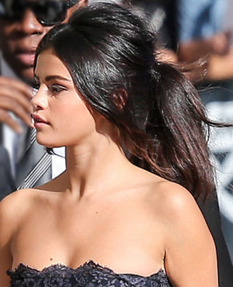 Selena Gomez's Puffed up Pony