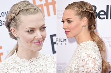 Amanda Seyfried Christmas party hairstyle
