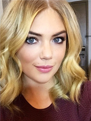 Kate Upton Christmas party hairstyle