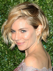 Sienna Miller Christmas party hairstyle