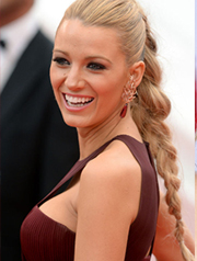 Blake Lively braided hairstyle 2015