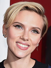 Scarlett Johansson bangs haircut 2015