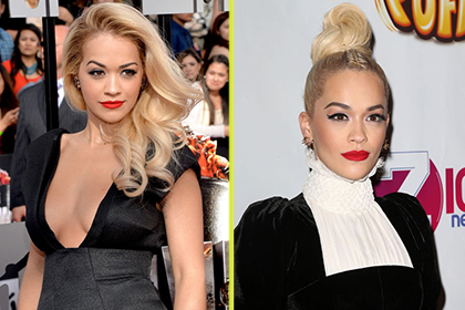 Rita Ora different haircut