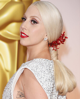 Lady Gaga's upgraded low ponytail