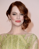 Emma Stone's asymmetrical updo