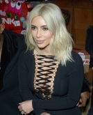Kim Kardashian's Platinum Look