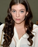Lorde's Sophisticated Side Hairstyle