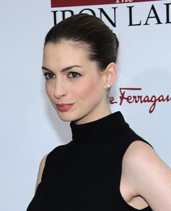 Anne Hathaway's Classic Updo Hairstyle