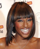 Alexandra Burke's Highlighted Bob Haircut